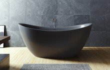 Purescape 171 Black Freestanding Slipper Bathtub web (4)