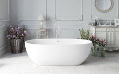 Aquatica Corelia Wht (Purescape 617BM) Freestanding Solid Surface Bathtub 01 (web)