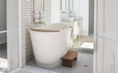 Malibu usa aquatica trueofuro freestanding solid surface bathtub