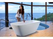 Arabella, la bañera rectangular en piedra, by Aquatica