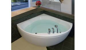 Cleopatra, la bañera angular Aquatica en material acrílico