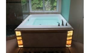 Lacus, la bañera incorporada Aquatica en material acrílico